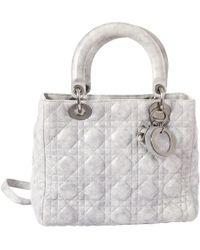 Dior - Pre-owned Lady Leather Handbag - Lyst