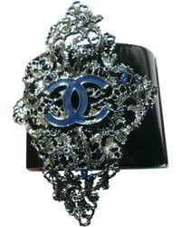 Chanel - Pre-owned Navy Metal Bracelet - Lyst