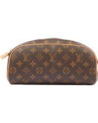 Louis Vuitton - Brown Cloth Travel Bag - Lyst