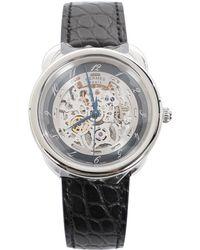 Hermès - Arceau Black Steel Watches - Lyst
