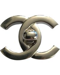 Chanel - Vintage Silver Steel Pins & Brooches - Lyst