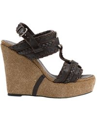 Barbara Bui - Brown Leather Sandals - Lyst