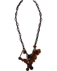 Marni - Brown Plastic Long Necklace - Lyst