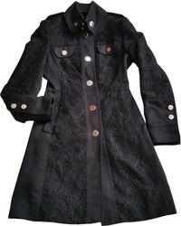 1df46ea4cd10 Karen Millen Patchwork Faux Fur Coat - Blue/multi in Blue - Lyst
