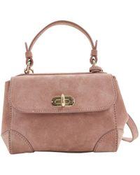 Ralph Lauren Collection - Pink Suede Handbag - Lyst
