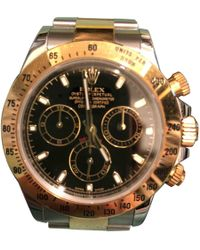 Rolex Pre-owned Daytona Black Gold And Steel Watches
