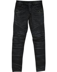Balmain - Pre-owned Black Cotton Jeans - Lyst