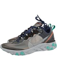 sale retailer bb761 31508 Nike - Pre-owned React Element 87 Other Cloth Trainers - Lyst
