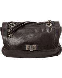 Lanvin - Happy Brown Leather Handbag - Lyst
