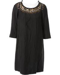Chloé - Vintage Black Polyester Dress - Lyst