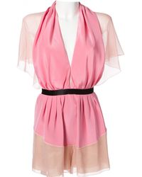 Marc Jacobs - Pre-owned Pink Silk Jumpsuits - Lyst