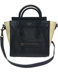 Céline - Pre-owned Nano Luggage Leather Crossbody Bag - Lyst