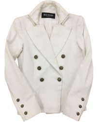 Balmain - Pre-owned White Cotton Jacket - Lyst