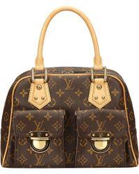 Louis Vuitton | Pre-owned Manhattan Cloth Handbag | Lyst