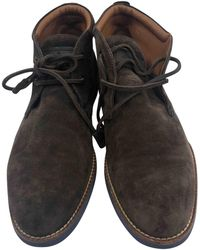 Louis Vuitton - Brown Suede Boots - Lyst