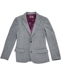 Zadig & Voltaire - Grey Polyester Jacket - Lyst
