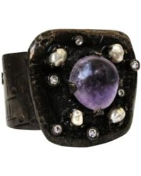 Chanel - Pre-owned Anthracite Metal Bracelet - Lyst