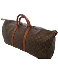 Louis Vuitton   Pre-owned Keepall Cloth 48h Bag   Lyst