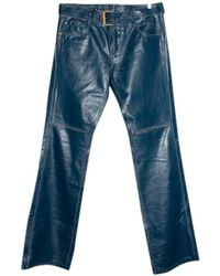 d65b07b5b315 Jean Paul Gaultier Leather Sailor Trousers in Black for Men - Lyst