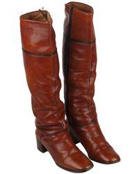 Hermès - Leather Boots - Lyst