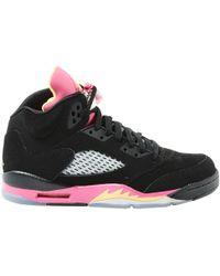 2c57fd30bf60fe Nike - Pre-owned Jordan Black Suede Trainers - Lyst