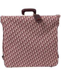 Dior - Vintage Burgundy Cloth Travel Bag - Lyst