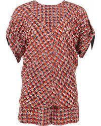 Louis Vuitton - Red Silk Jumpsuits - Lyst