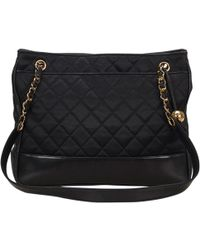 Chanel - Pre-owned Vintage Black Cloth Handbags - Lyst