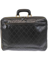 Chanel - Pre-owned Leather 48h Bag - Lyst