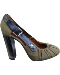 Dries Van Noten - Pre-owned Khaki Leather Heels - Lyst