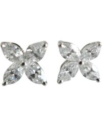 Tiffany & Co. - Pre-owned Victoria Other Platinum Earrings - Lyst