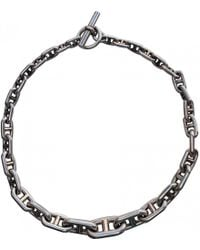 Hermès - Pre-owned Chaîne D'ancre Silver Necklace - Lyst