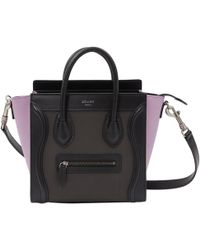Céline - Pre-owned Nano Luggage Leather Bag - Lyst