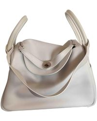 Hermès - Lindy White Leather Handbag - Lyst