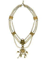 Chloé - Vintage Gold Metal Long Necklace - Lyst