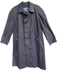 Burberry - Pre-owned Purple Cotton Coat - Lyst