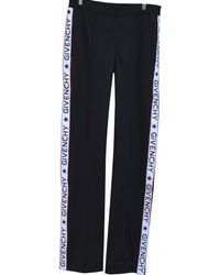 Givenchy - Black Polyester Trousers - Lyst