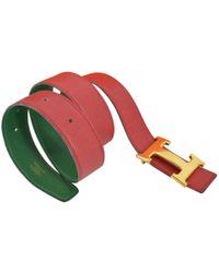 Hermès - H Other Leather Belts - Lyst