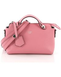 c293291eaf37 Lyst - Fendi By The Way Mini Leather Satchel in Red