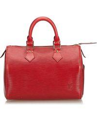 Louis Vuitton - Pre-owned Vintage Speedy Burgundy Leather Handbags - Lyst