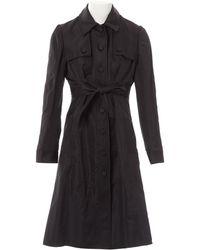Valentino - Vintage Black Silk Coat - Lyst