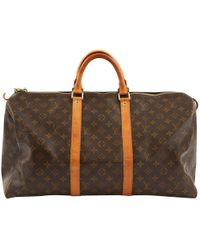 Louis Vuitton - Pre-owned Keepall Cloth Travel Bag - Lyst