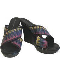 Diane von Furstenberg - Black Leather Sandals - Lyst