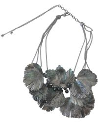 Chanel - Pre-owned Anthracite Metal Necklaces - Lyst