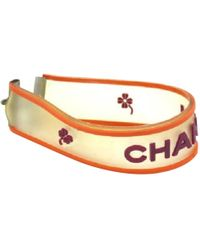 Chanel - White Plastic Bracelet - Lyst