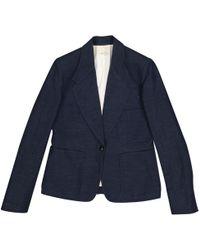 Hermès - Blue Linen Jacket - Lyst