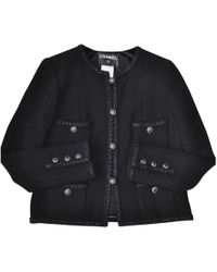 Chanel - Black Tweed Jacket - Lyst
