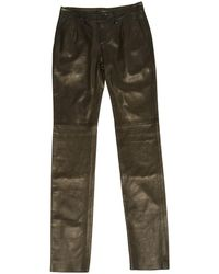 JOSEPH - Pre-owned Leather Straight Pants - Lyst