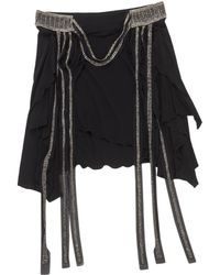 Chloé - Black Viscose Skirt - Lyst