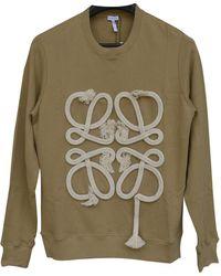 Loewe Beige Cotton Knitwear & Sweatshirt - Natural